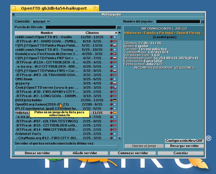 OpenTTD Server
