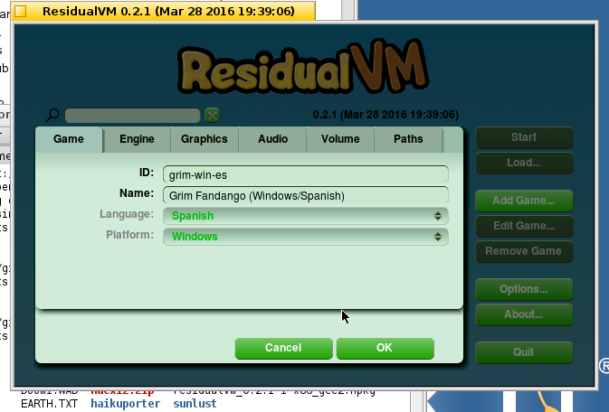 ResidualVM Load